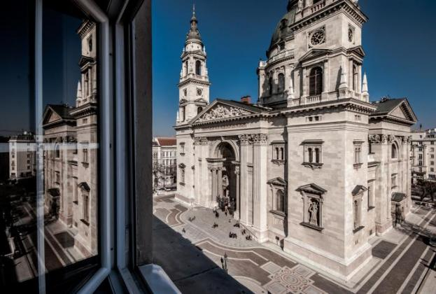 A view of St. Stephen's Basilica from the apartment window