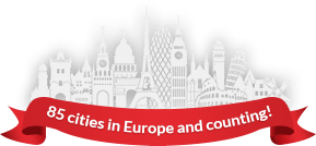 85 cities in Europe and counting